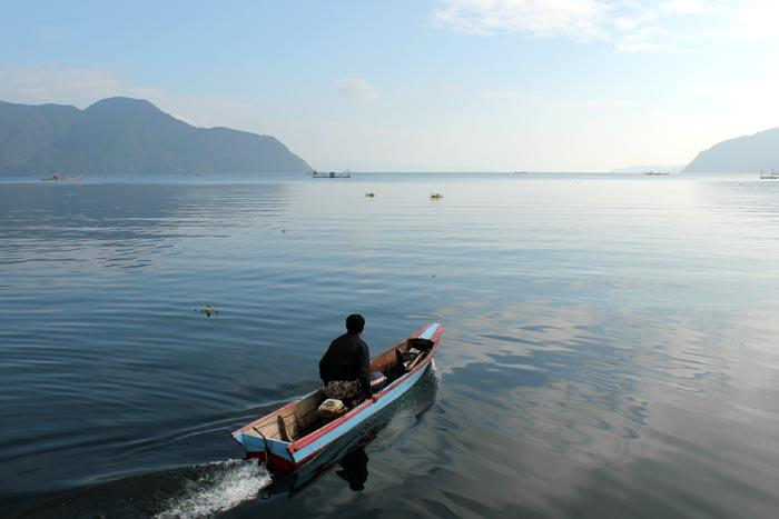 Foto: Net Nelayan di Danau Toba.